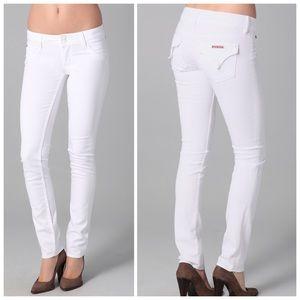 Hudson Collin Flap White Skinny Jeans